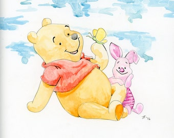 Pooh and Piglet (PRINT)