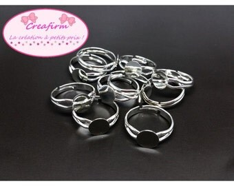 10 rings tray 8mm silver shiny