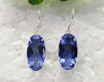 Beautiful BLUE IOLITE Gemstone Earrings, Birthstone Earrings, 925 Sterling Silver Earrings, Fashion Handmade Earrings, Dangle Earrings
