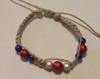 Red White and Blue USA Bracelet