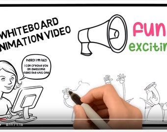Customized Whiteboard Animation Introduction Full HD Video, increase website traffic, more sales, advertise your business MP4, Powerpoint