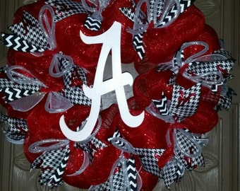 Alabama Crimson Tide deco mesh wreath