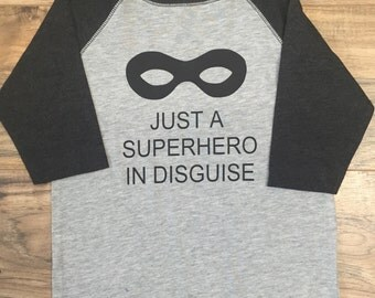 Superhero Raglan Tee for Boys