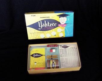 Vintage Yahtzee game, 1960s Yahtzee, 1961 Yahtzee, board game, dice game