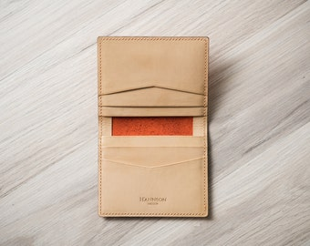 100% Handmade Unisex Cards Wallet, Chic Colors, ID & Business Case - No.02 Bifold Wallet