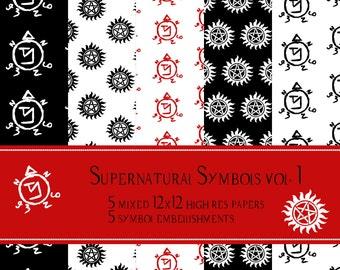 Supernatural Scrapbook Pages Vol. 1