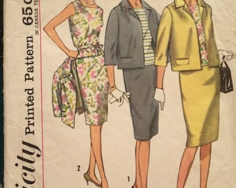 Classic Simplicity Three-Piece Jackie O Style Suit Pattern 4800