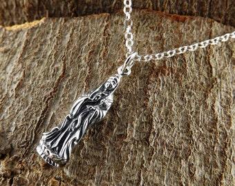 Sterling silver kwan yin goddess pendant~goddess pendant~sterling silver kwan yin goddess jewellery~reiki jewellery~spiritual pendant