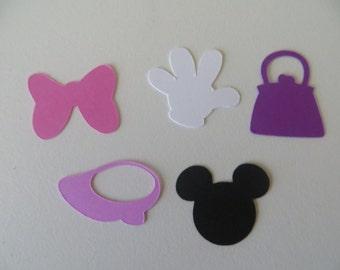 Minnie Mouse Confetti - Set of 150 - Handmade - Disney