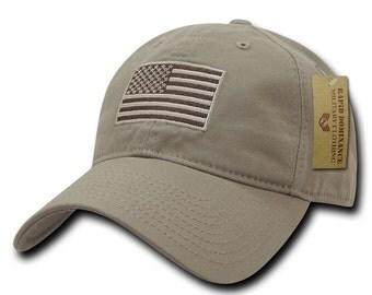 American Flag Embroidered Washed Cotton Baseball Cap A03-1TSA