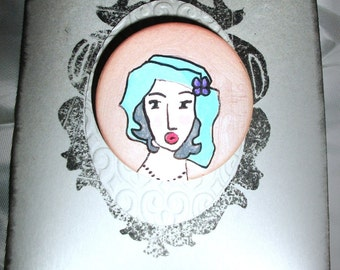Women retro pin 004 by Pikeros