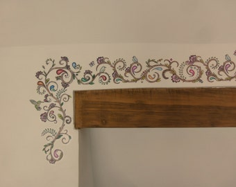Jacobean Design Wall Art Transfer/Decal/Sticker border trim