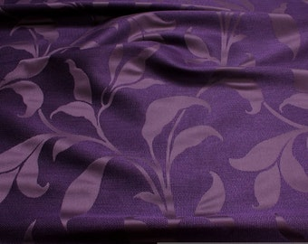 Fabric rayon cotton Jacquard violet tendril decoration cushion curtain viscose