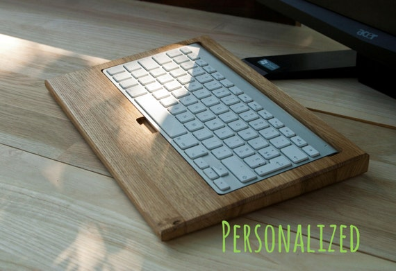Wooden stand wireless Customize Apple Magic Keyboard Personslized  wood Apple dock, holder Apple  wood docking station accessories,Customize