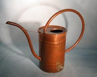 Hammered Copper Watering Can For Indoor or Outdoor Gardening