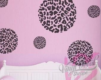 Leopard Print Wall Decal, Circle Leopard Print, Diamond Leopard Print,  Heart Leopard Print Part 58