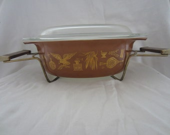 Vintage Pyrex with stand