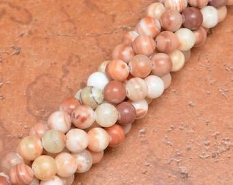 """8 mm round Natural Red Malachite beads 16"""" strand (#J1073)"""