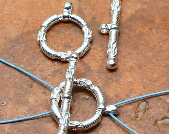 2 Sterling silver  toggle clasps  ( #J1455)
