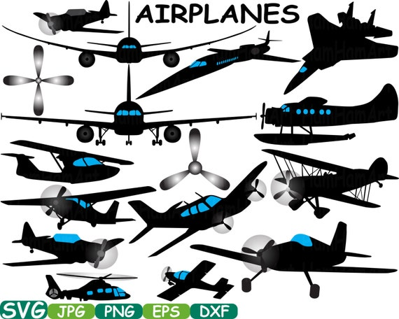 Silhouette Patriotic Cutting Files Planes Airplane