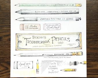 Pencils, etc... Print