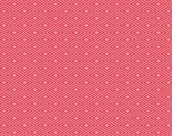 1 Yard Vintage Daydream by Design by Dani for Riley Blake Design- 5565 Red Vintage Aztec