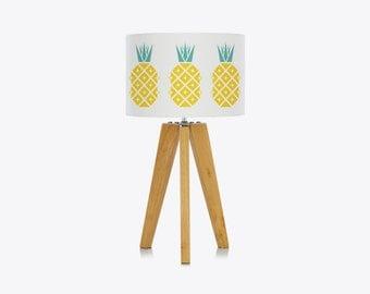 Retro 60s 70s Disco Pineapple Lamp Shade – Vintage Mid-Century Tropical Ceiling Pendant Lamp Light by Suzie London