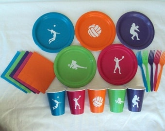 Volleyball Party Tableware Set for 5 People