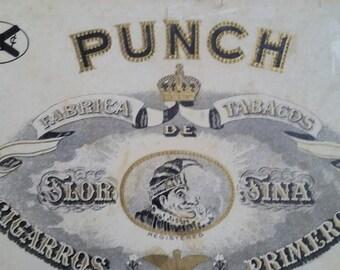 Antique Vintage PUNCH cigar box