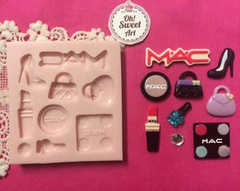 Make up Set Set  Silicone Mold Cake Decorating Sugar Flower soap wax toppers FDA APPROVED