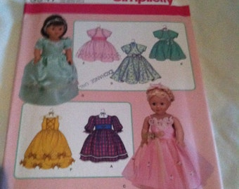 Simplicity doll clothes pattern 3547 for 18 inch doll clothes NEW