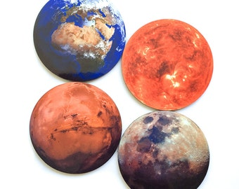Planet Coasters (set of 4)