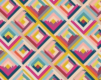 Crib Sheet or Changing Pad Cover | Girl Baby Bedding | Modern Crib Sheet | Peach Pink Crib Bedding | Geometric Sheet | Standard or Mini Crib