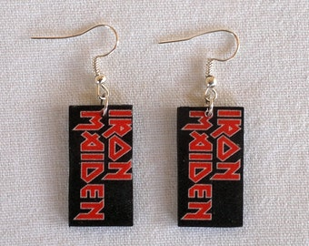 Earrings with Iron Maiden