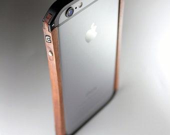 Wood and aluminium bumper for iPhone 6 slim and elegance