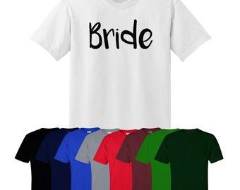 Bride T-shirt Hen Do Bridesmaid Maid of Honour Custom Print Gift Womens UK Ships Worldwide S-XXL