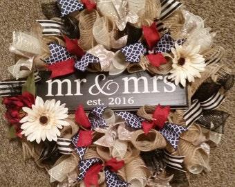 Newlywed/Wedding wreath
