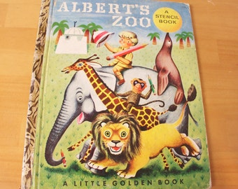 Vintage 1951 Little Golden Book Alberts Zoo First Edition