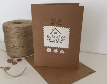 Good luck in your new home handmade card