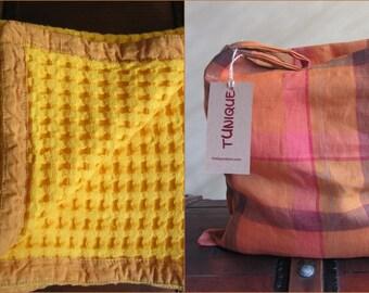 Cotton Baby Blanket in Linen bag, Baby Receiving Blanket