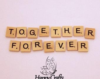 Wooden Letter Magnet Words Together Forever
