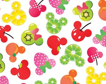 half yard (105cm x 45cm) cotton fabric - Disney Minnie Mouse Fruits
