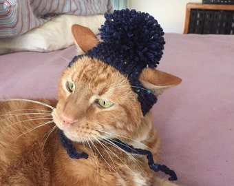Navy cat hat
