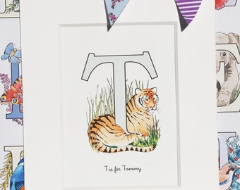 Alphabet Pictures - T : Personalised Prints