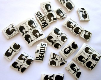 18 Beatles Mosaic Tiles (***CURVED***)