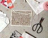5x7 Custom Woodcut Philly Map
