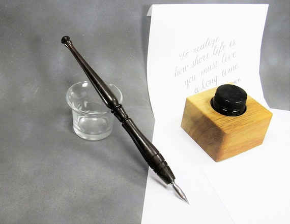 Handmade Calligraphy Pen Nib Holder Wood Dip Pen Holder For