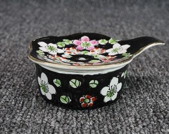 Vintage Asian Porcelain Tea Bag Strainer