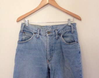 80s Blue High Waist Mum Jeans