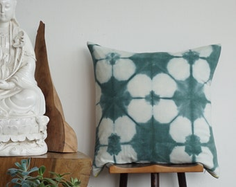 Hand dye Corduroy Green Pillow cover